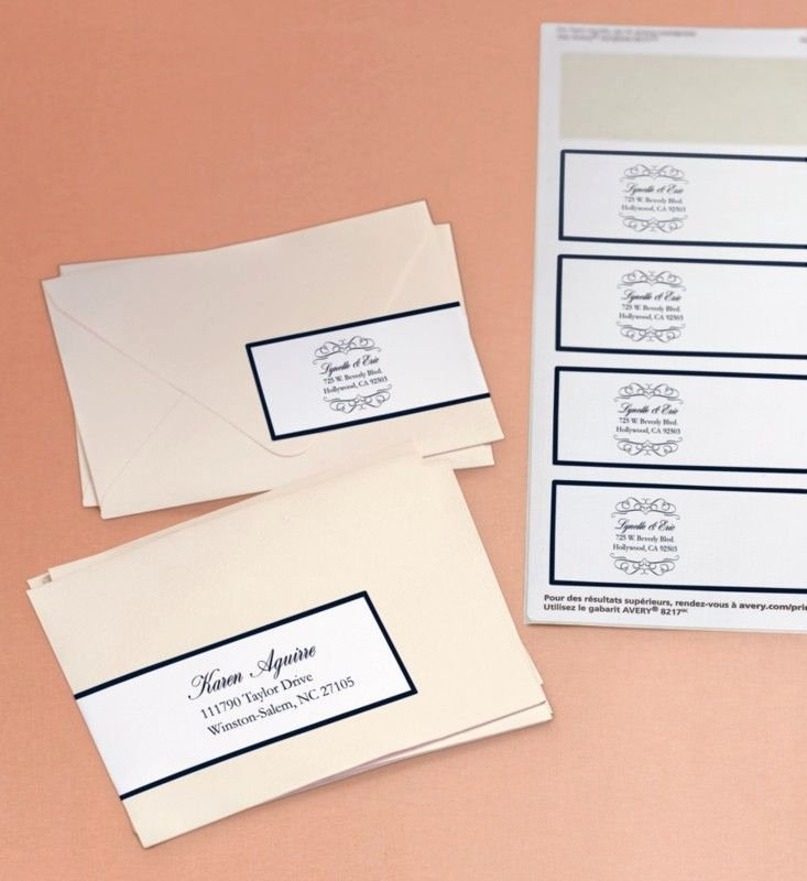 Wedding Address Labels Template Inspirational Avery Wraparound Labels Add An Elegant touch to