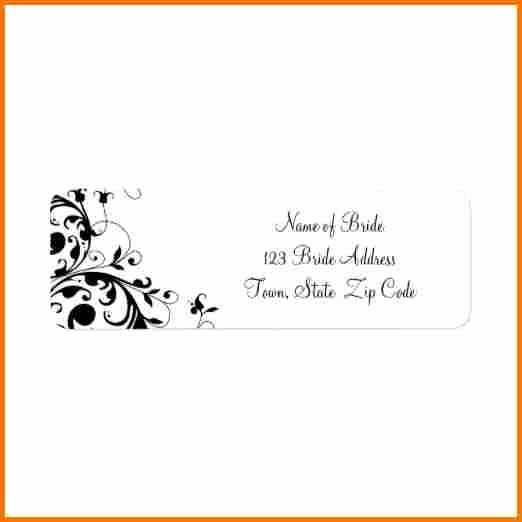 Wedding Address Labels Template Inspirational Wedding Address Label Template