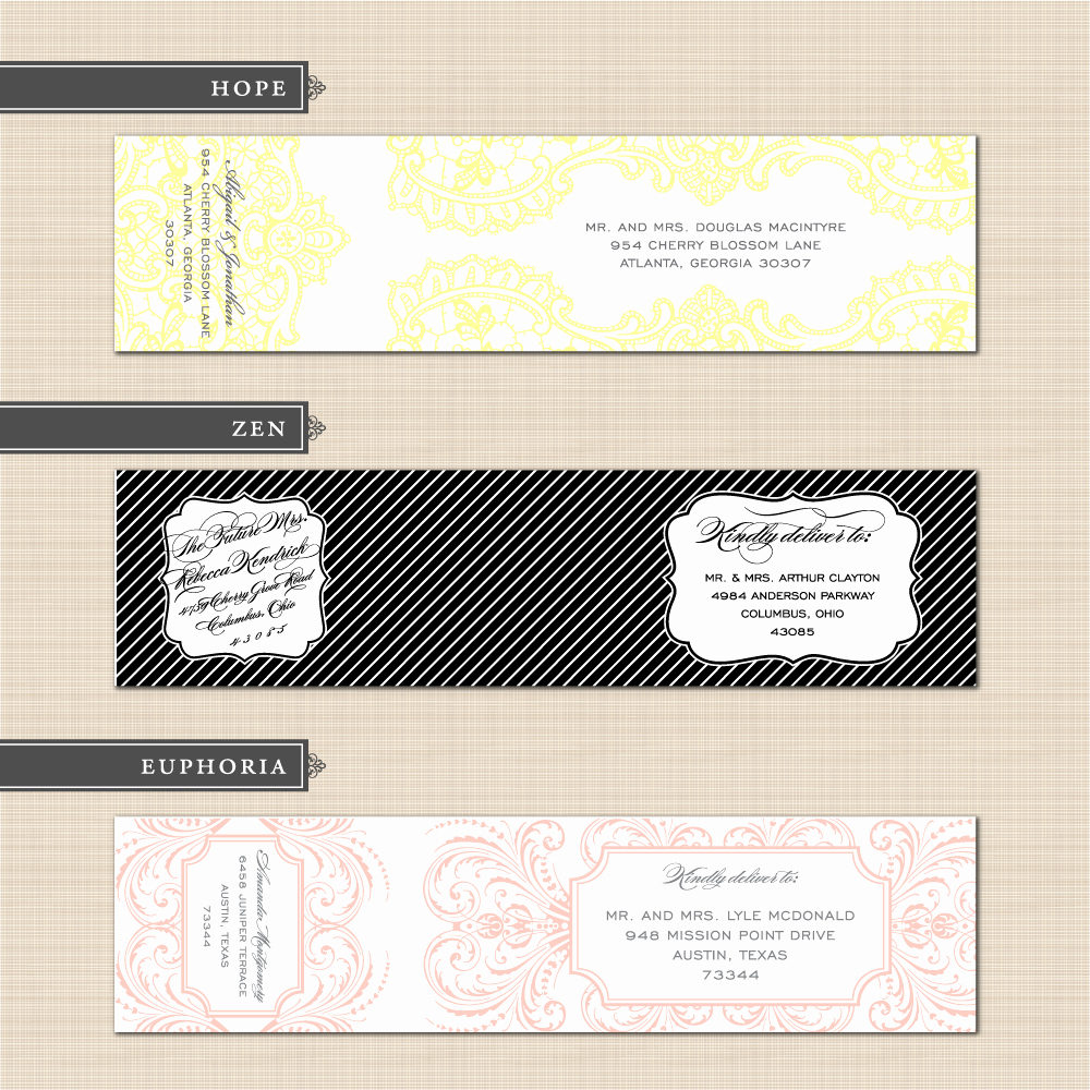 Wedding Address Labels Template Lovely Diy Printable Custom Wedding Wrap Around Address Label