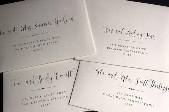 Wedding Address Labels Template Lovely Envelope Template Envelope Address Template Wedding