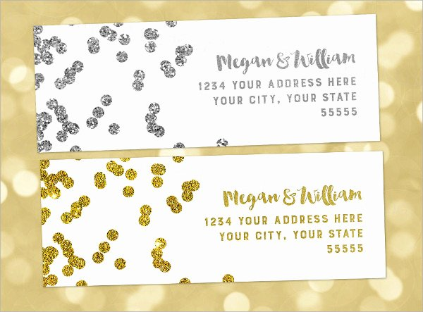 Wedding Address Labels Template Luxury 11 Wedding Address Labels Psd