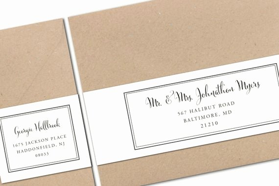 Wedding Address Labels Template Luxury Printable Wrap Around Address Labels Wedding Templates