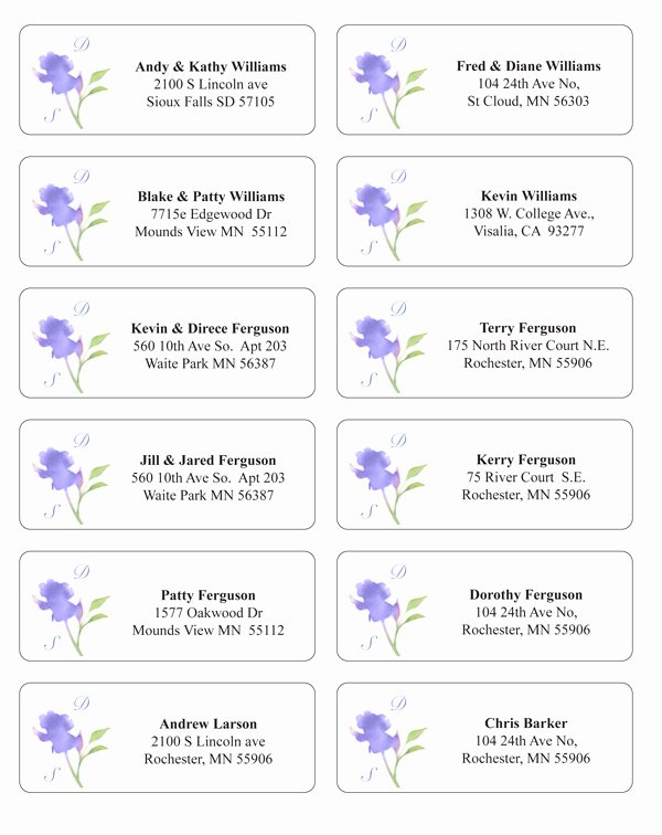 Wedding Address Labels Template Unique Make Envelope Addressing Easier and Extra Stylish