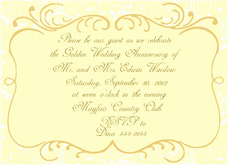 Wedding Anniversary Invitation Templates Beautiful 5 Golden Anniversary Invitation Templates Yaptw