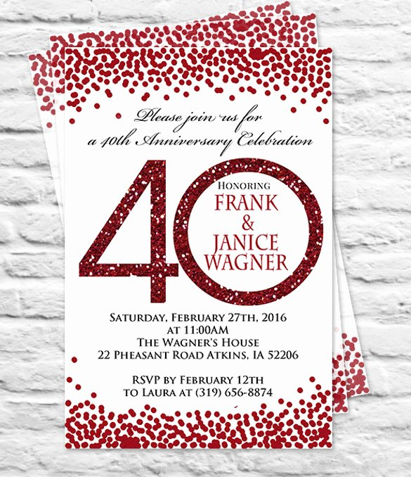 Wedding Anniversary Invitation Templates Elegant 28 Anniversary Invitation Templates Psd Ai Word