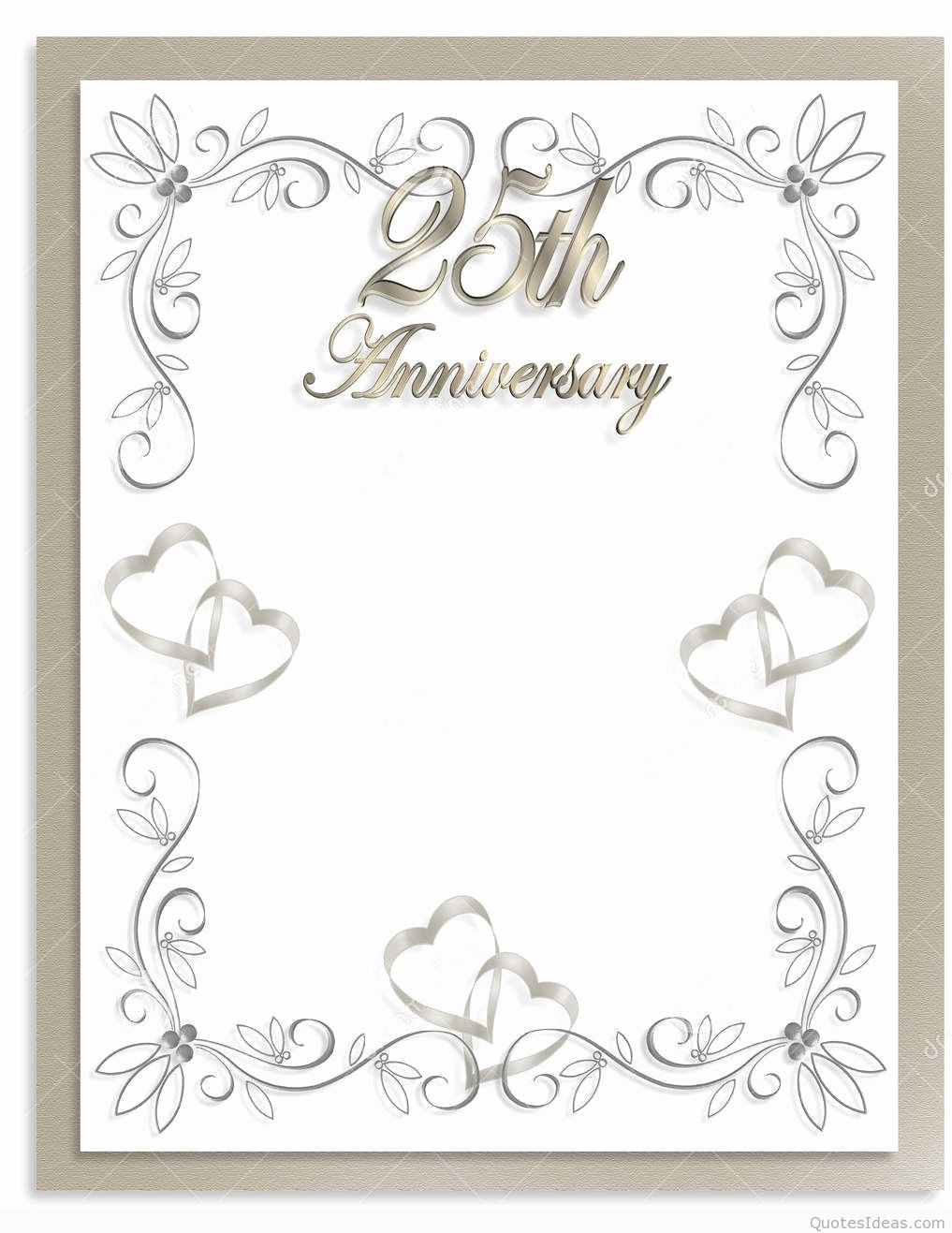Wedding Anniversary Invitation Templates Elegant Happy 25rd Marriage Anniversary Quotes Wishes On Pics