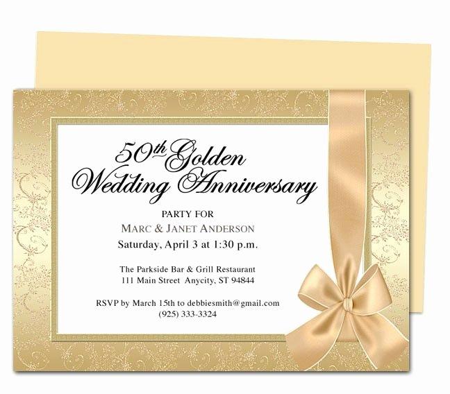 Wedding Anniversary Invitation Templates Elegant Wrapping Anniversary Invitation Template