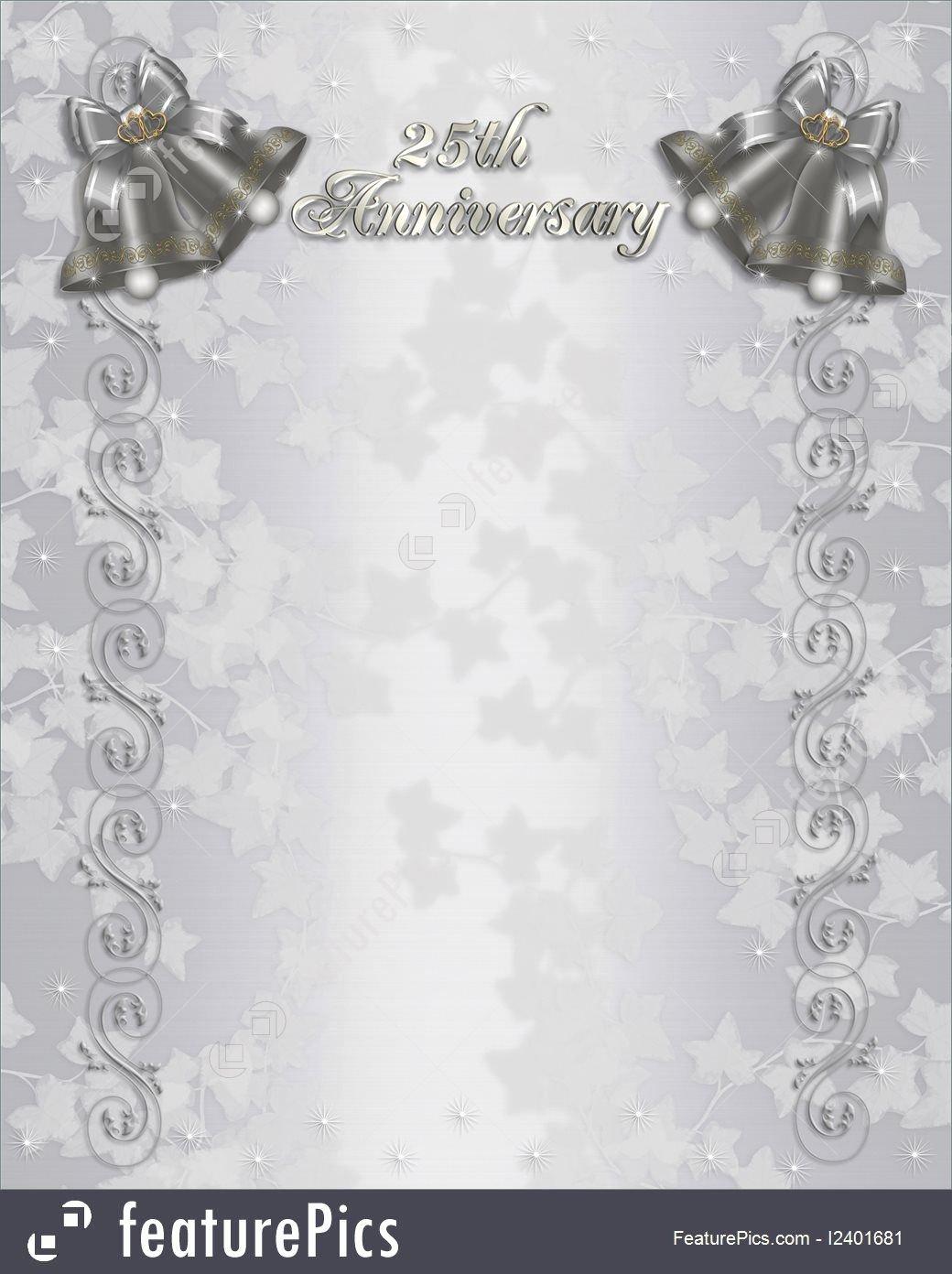 Wedding Anniversary Invitation Templates Inspirational Free 25th Wedding Anniversary Invitations Free Templates