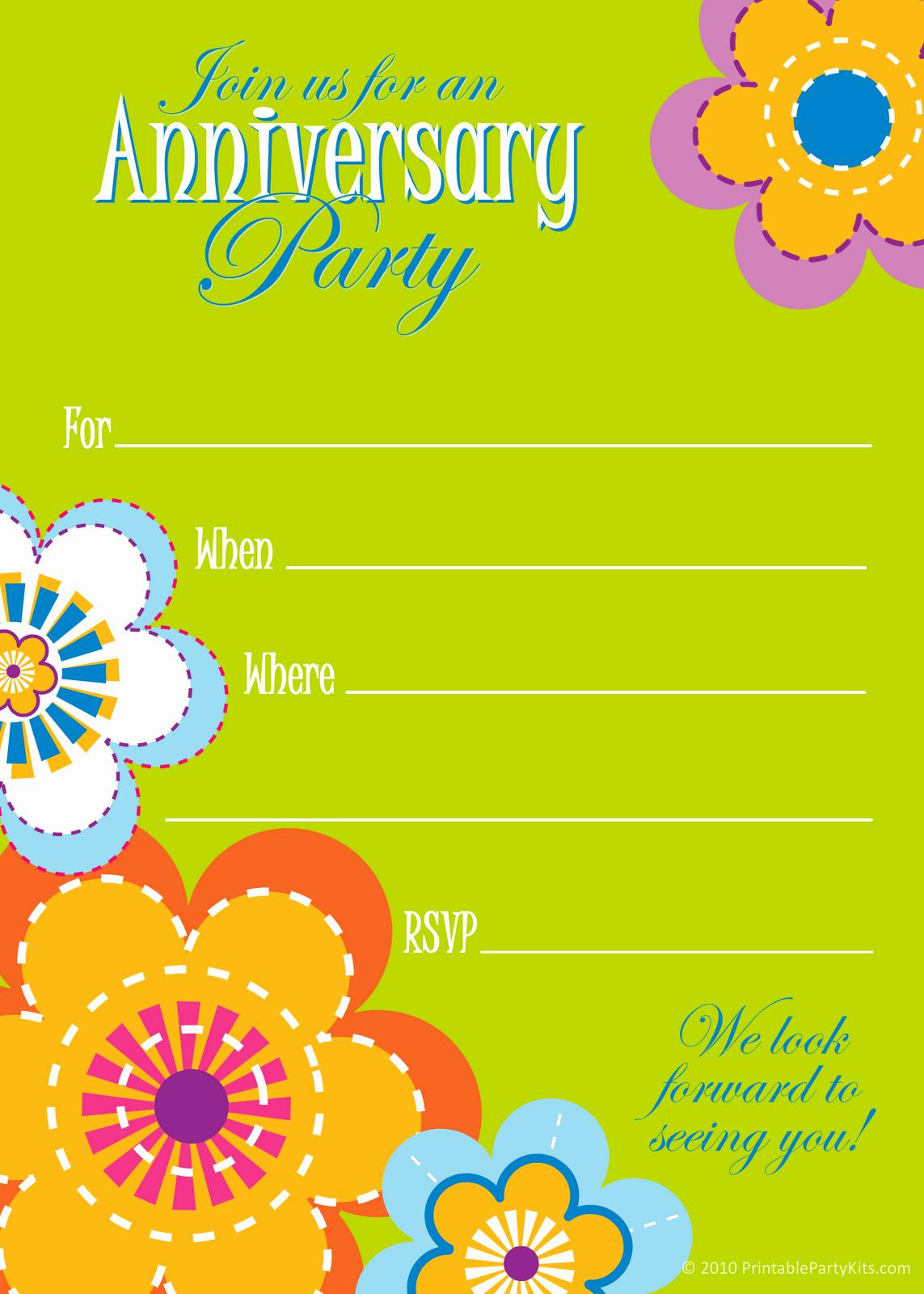 Wedding Anniversary Invitation Templates Inspirational Wedding Anniversary Invitation Template Free