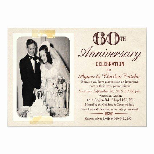 Wedding Anniversary Invitation Templates Lovely 60th Wedding Anniversary Invitation Custom