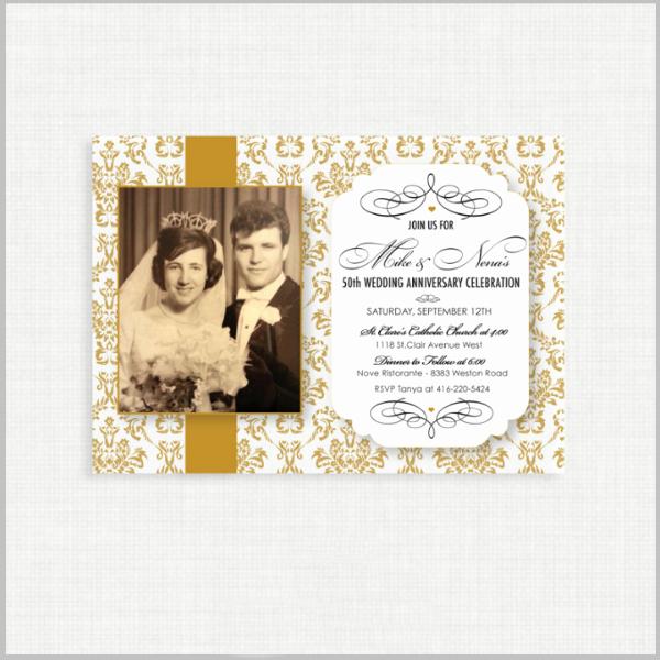 Wedding Anniversary Invitation Templates Luxury 32 50th Wedding Anniversary Invitation Designs