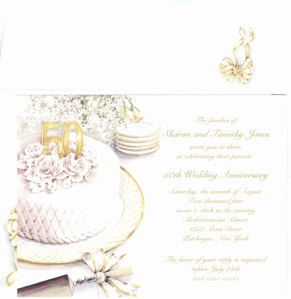 Wedding Anniversary Invitation Templates New 50th Wedding Anniversary Invitation Template Free