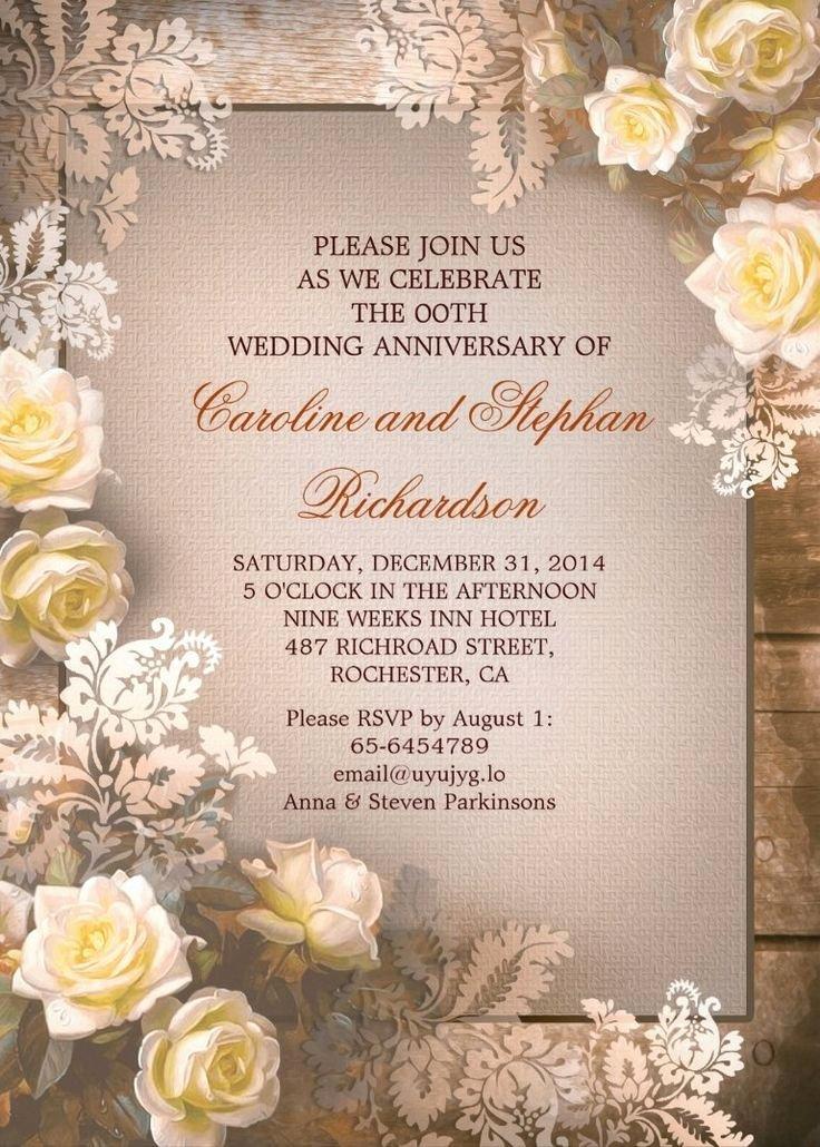 Wedding Anniversary Invitation Templates New Best 25 50th Wedding Anniversary Invitations Ideas On