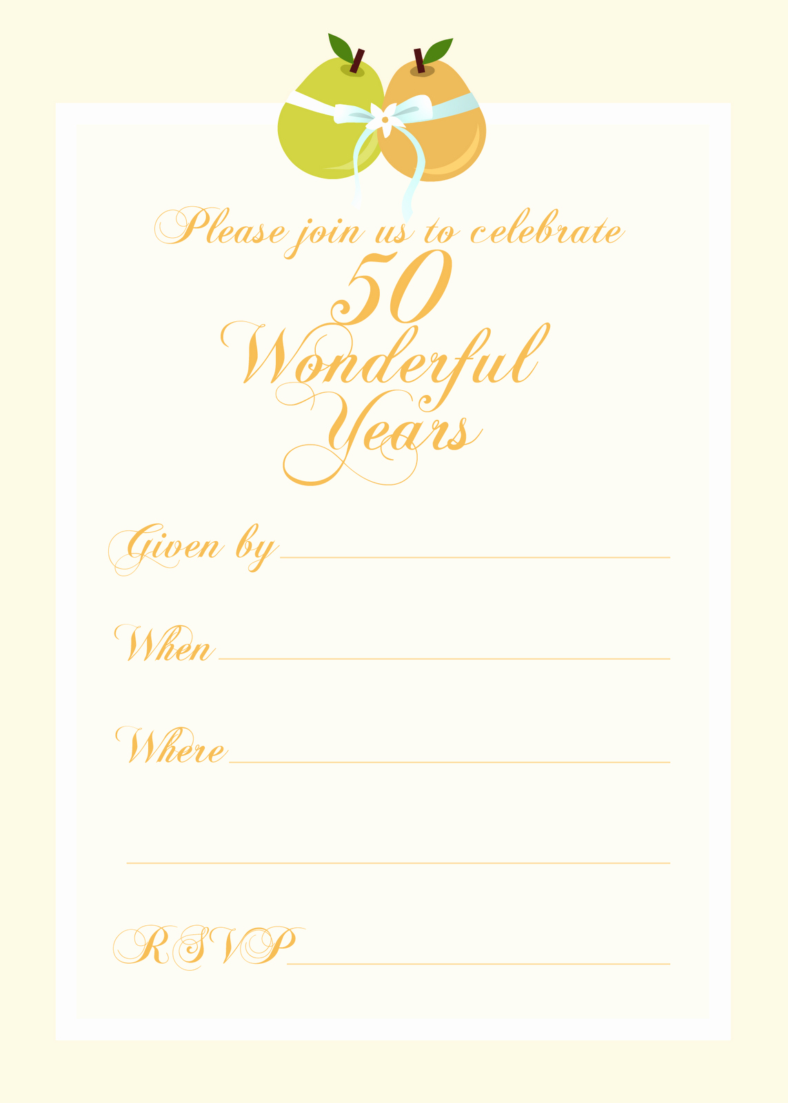 Wedding Anniversary Invitation Templates Unique Free Printable Party Invitations Free 50th Wedding