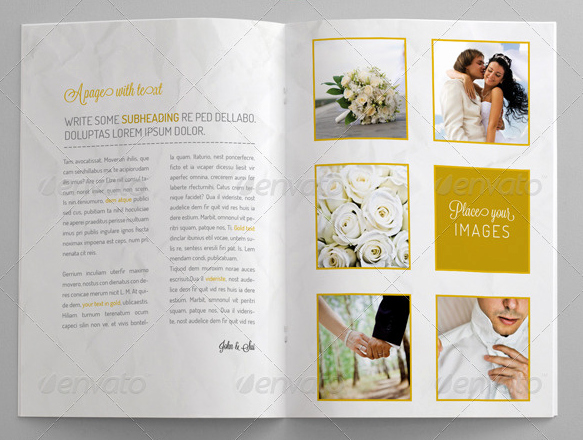 Wedding Brochure Template Free Awesome 10 Beautiful Wedding Brochure Templates – Psd Eps Ai