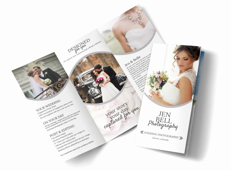 Wedding Brochure Template Free Awesome Bell Wedding Graphy Tri Fold Brochure Template