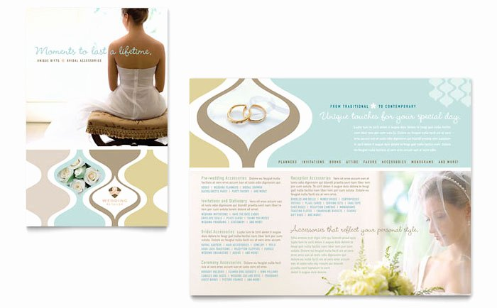 Wedding Brochure Template Free Best Of Wedding Store & Supplies Brochure Template Design
