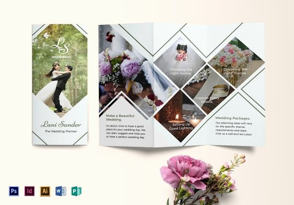 Wedding Brochure Template Free Elegant 17 event Management Brochure Templates Ai Psd Word