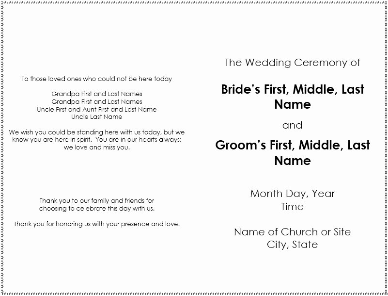 Wedding Brochure Template Free Fresh 8 Free Sample Wedding Brochure Templates Printable Samples