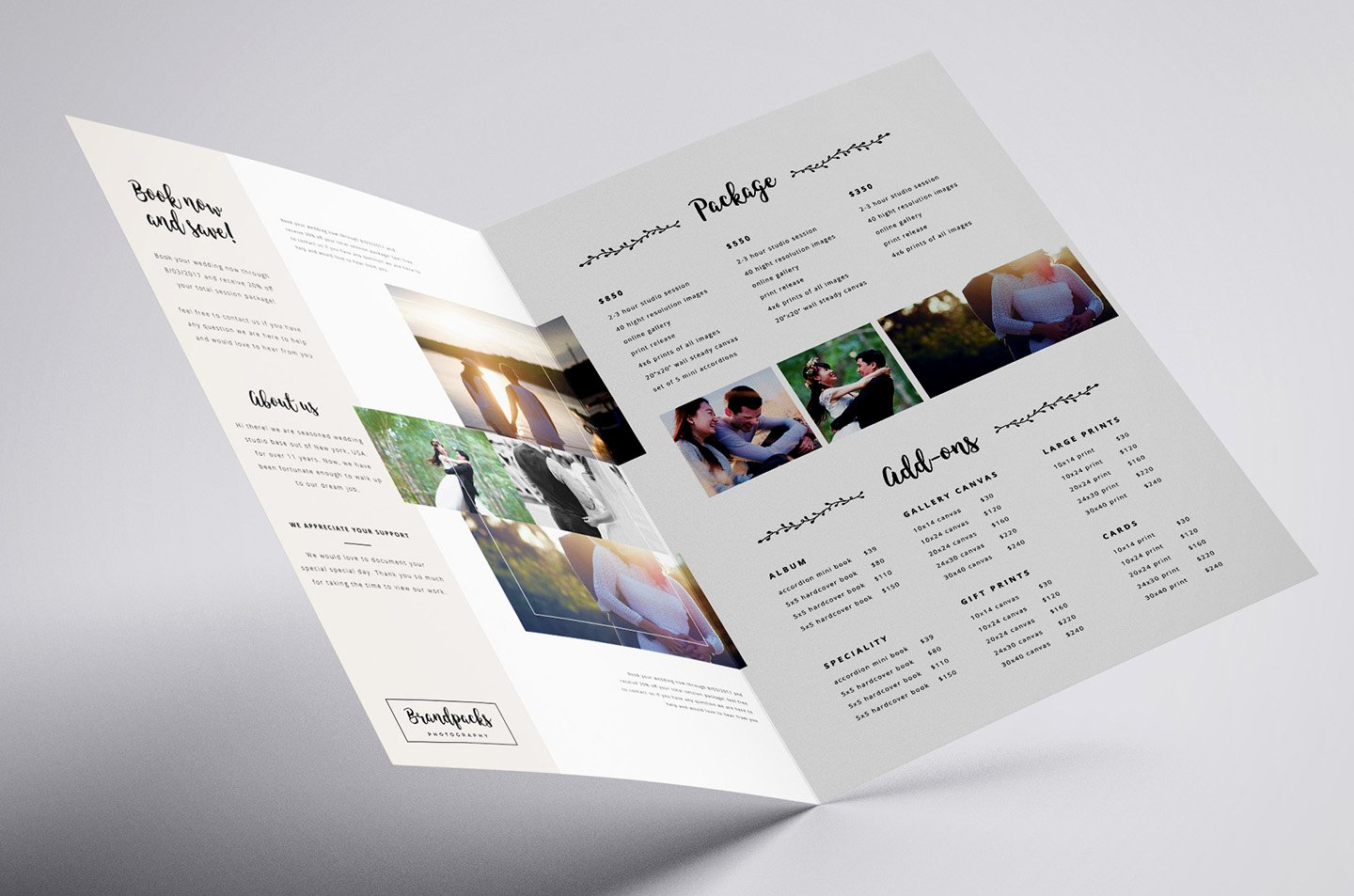 Wedding Brochure Template Free Inspirational Wedding Grapher Brochure Template Psd Ai Vector
