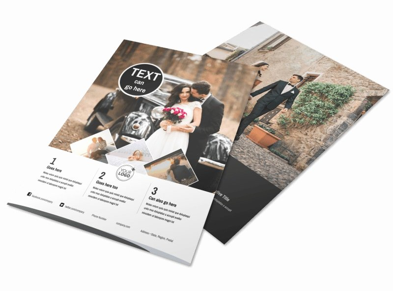 Wedding Brochure Template Free Inspirational Wedding Graphy Package Flyer Template