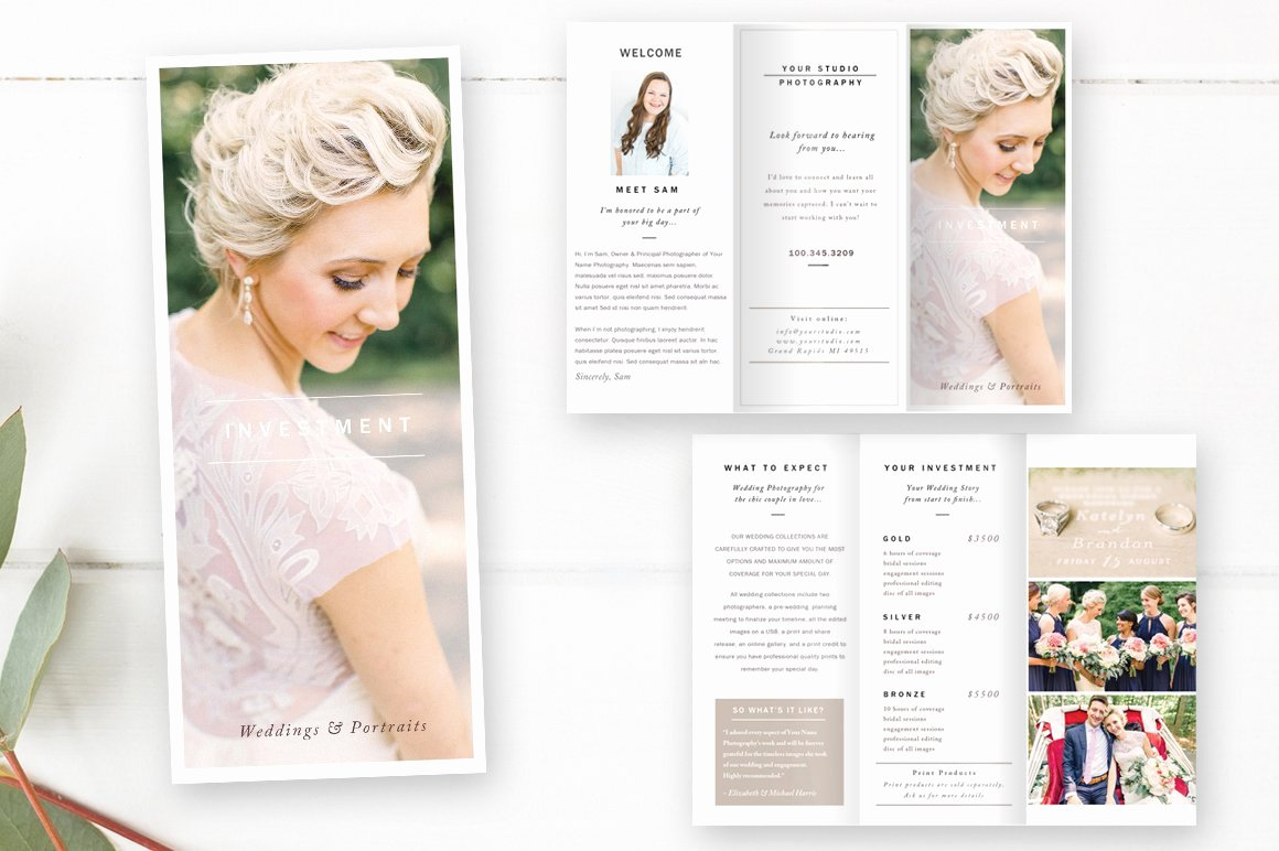 Wedding Brochure Template Free Luxury Wedding Graphy Brochure Brochure Templates