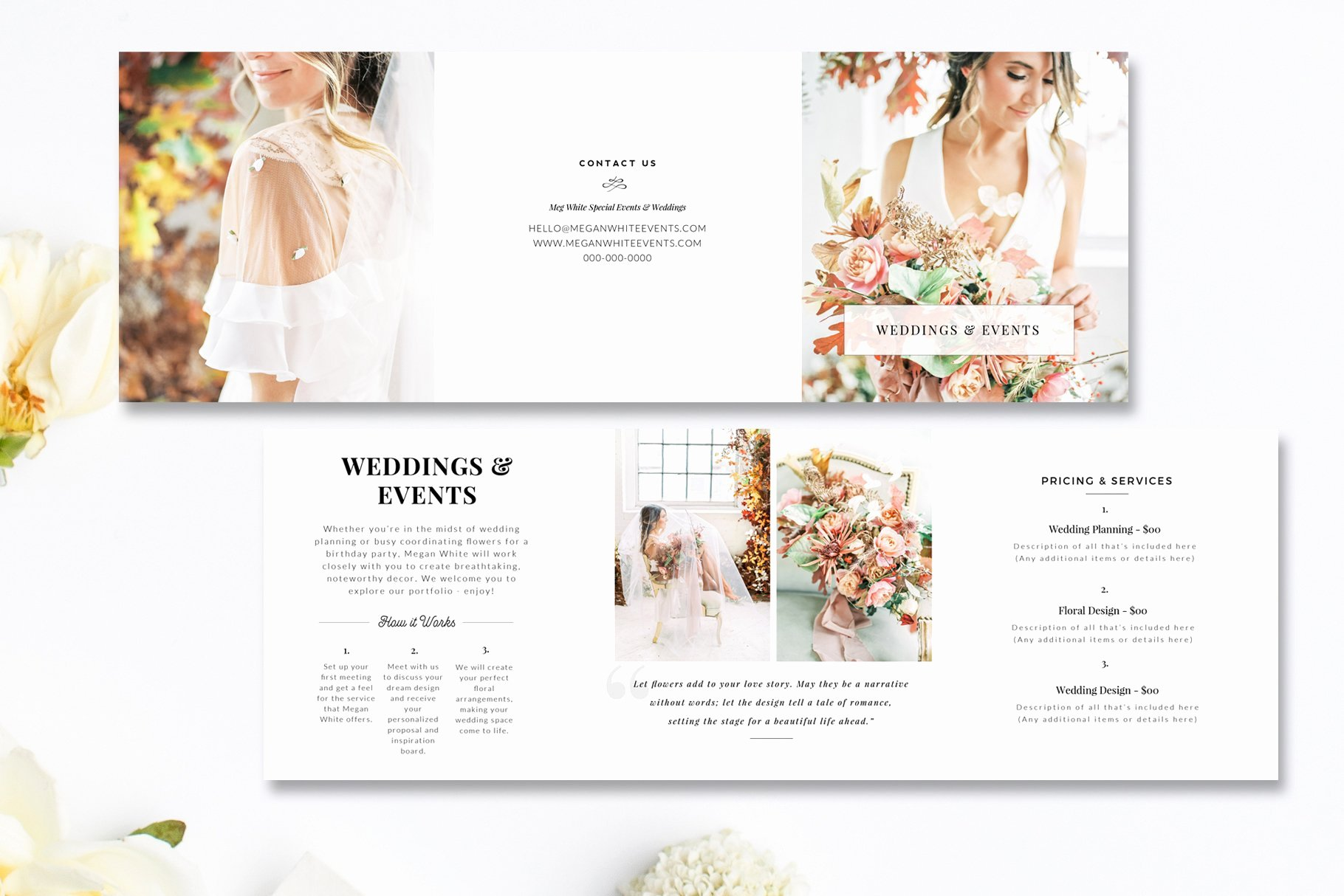 Wedding Brochure Template Free New Florist Tri Fold Brochure Psd Brochure Templates