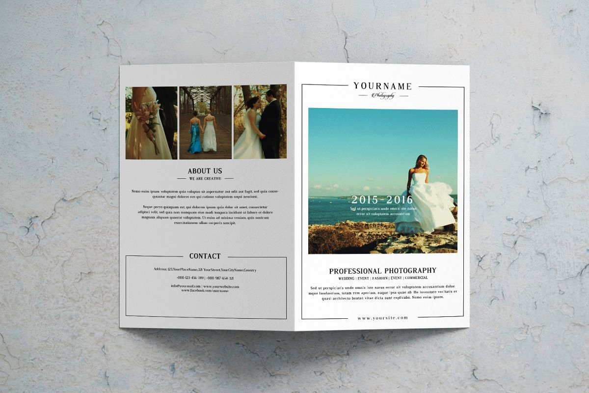 Wedding Brochure Template Free New Wedding Graphy Brochure Template