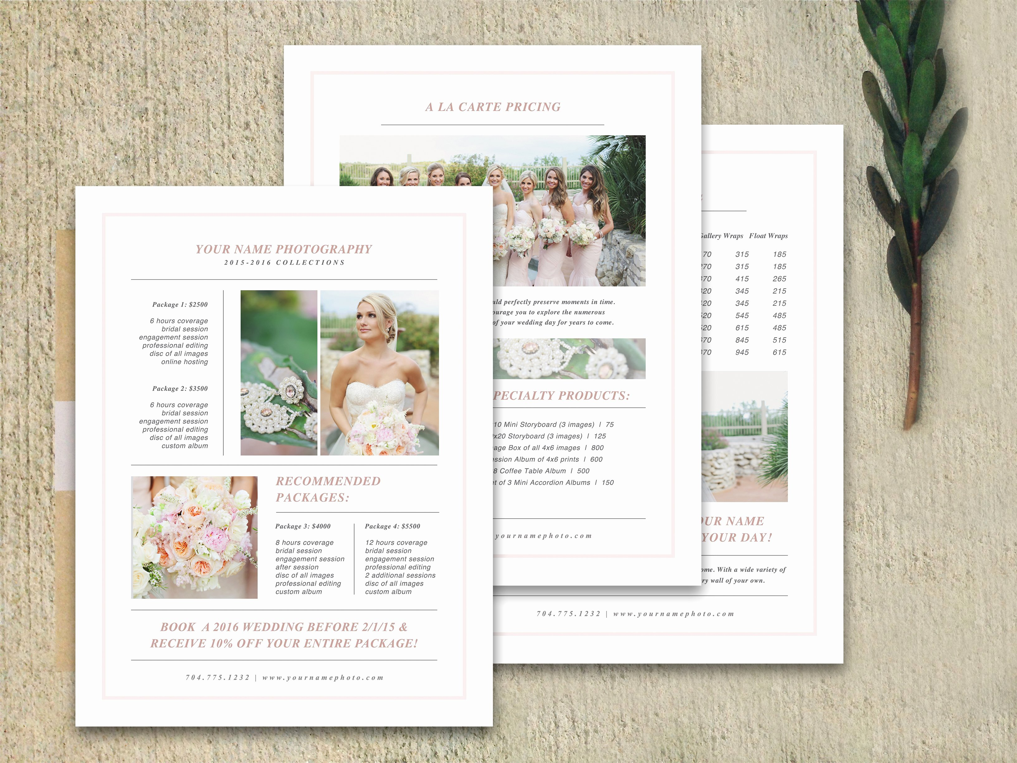 Wedding Brochure Template Free New Wedding Pricing Guide Set Brochure Templates Creative