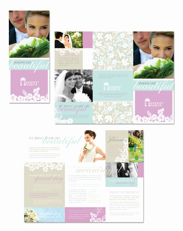 Wedding Brochure Template Free Unique Wedding & event Planning Tri Fold Brochure Template