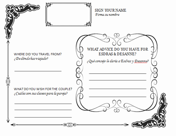 Wedding Guest Book Template Beautiful Diy Wedding Guestbook Templates
