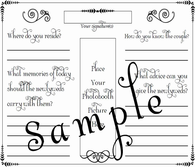 Wedding Guest Book Template Best Of Booth Wedding Guest Book Page Pdf File Template 8 5 X