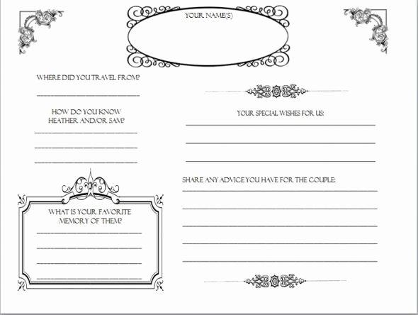 Wedding Guest Book Template Elegant Diy Wedding Guestbook Templates My Guestbook Pages