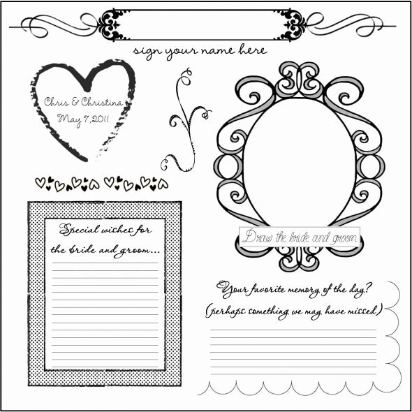 Wedding Guest Book Template Fresh 34 Best Images About Dyi Printable Wedding Guest Book