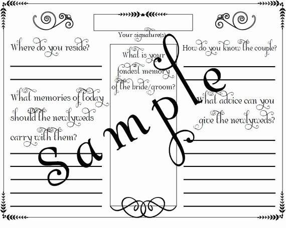 Wedding Guest Book Template Fresh Items Similar to Wedding Guest Book Page Pdf File Template