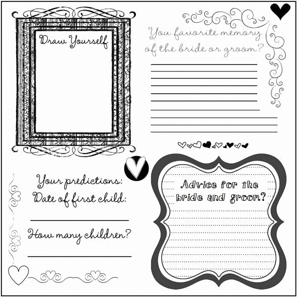 Wedding Guest Book Template Luxury 34 Best Dyi Printable Wedding Guest Book Alternative