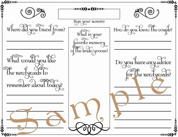 Wedding Guest Book Template Unique Wedding Guest Book Page formal Pdf Template 8 5 X by