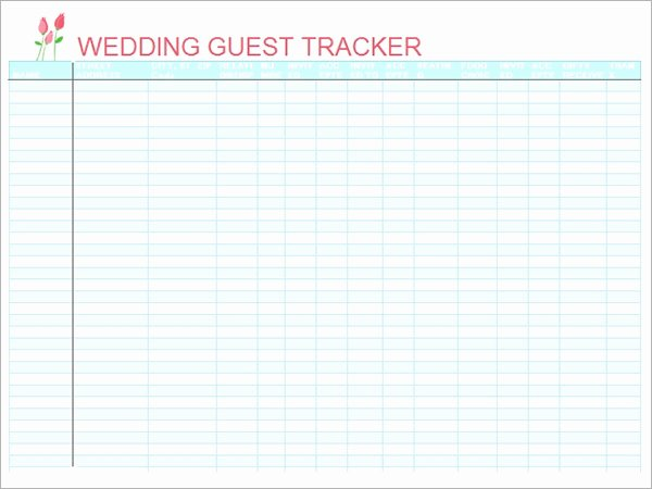 Wedding Guest List Template Excel Lovely 17 Wedding Guest List Templates Pdf Word Excel