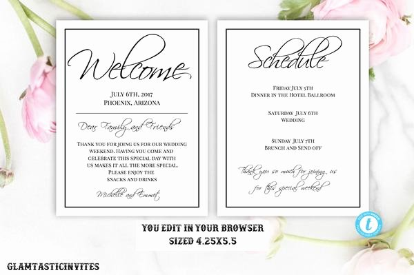 Wedding Hotel Welcome Letter Template Elegant Sunflower Burgundy Merlot Rustic Wedding Invitation