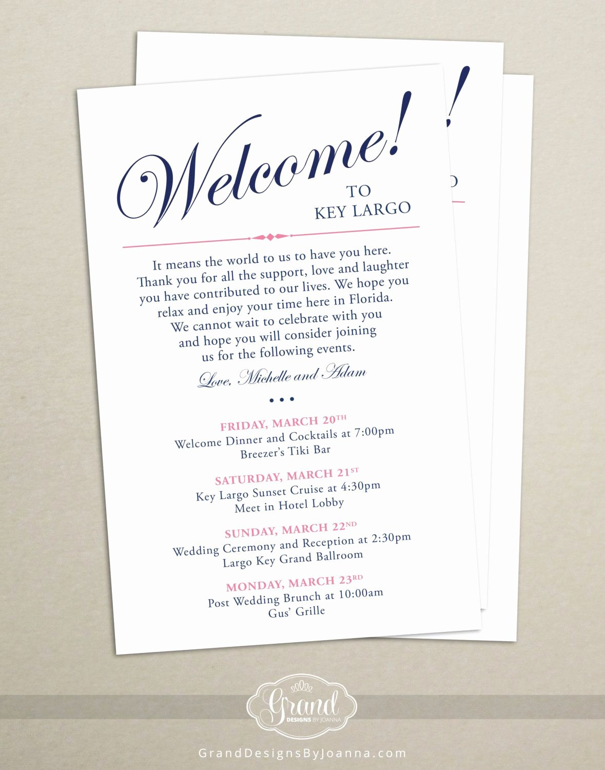 Wedding Hotel Welcome Letter Template Fresh Itinerary Cards for Wedding Hotel Wel E Bag Printed