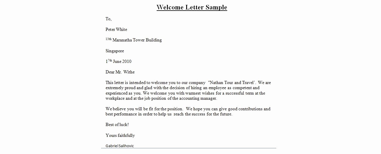 Wedding Hotel Welcome Letter Template Inspirational Wedding Wel E Letter Template