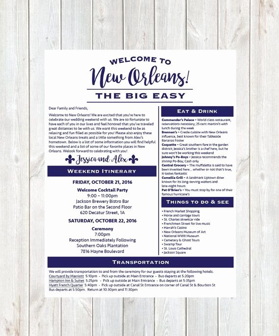Wedding Hotel Welcome Letter Template Inspirational Wel E Letter Wedding Itinerary Wedding Wel E Bag Hotel