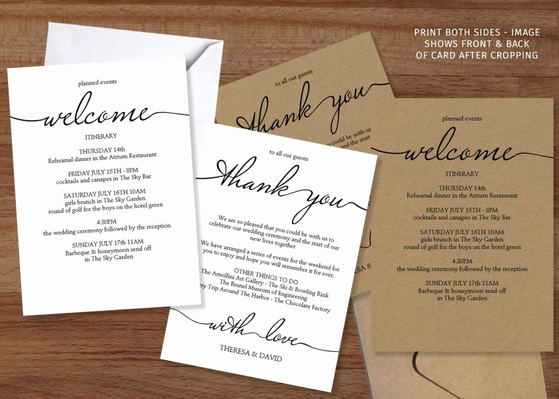 Wedding Hotel Welcome Letter Template Lovely Wedding Weekend Itinerary Template