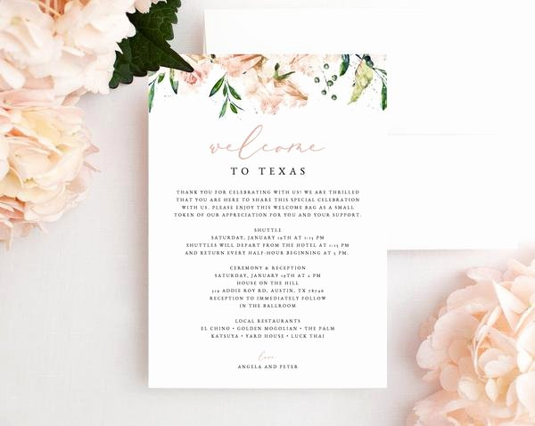 Wedding Hotel Welcome Letter Template Luxury Hotel Wel E Letter