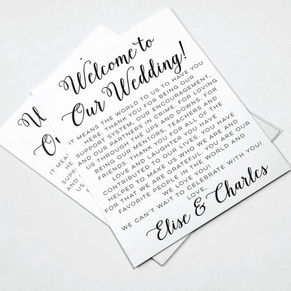 Wedding Hotel Welcome Letter Template Luxury Wedding Wel E Letters Wedding Itineraries by Designedbyme
