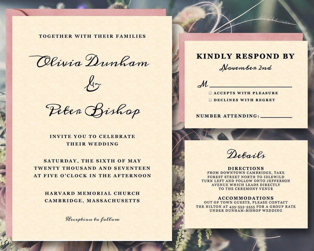 Wedding Invitation List Templates Best Of Off Printable Wedding Invitation Template Suite