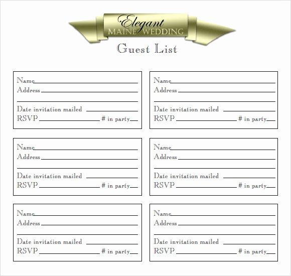 Wedding Invitation List Templates Luxury Sample Guest List 8 Documents In Pdf Word Excel