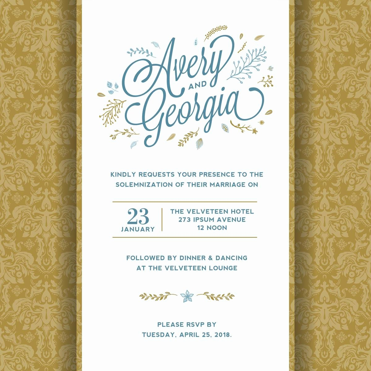 Wedding Invitations List Template Awesome 5 Exceptionally thoughtful Do It Yourself Wedding Invitations