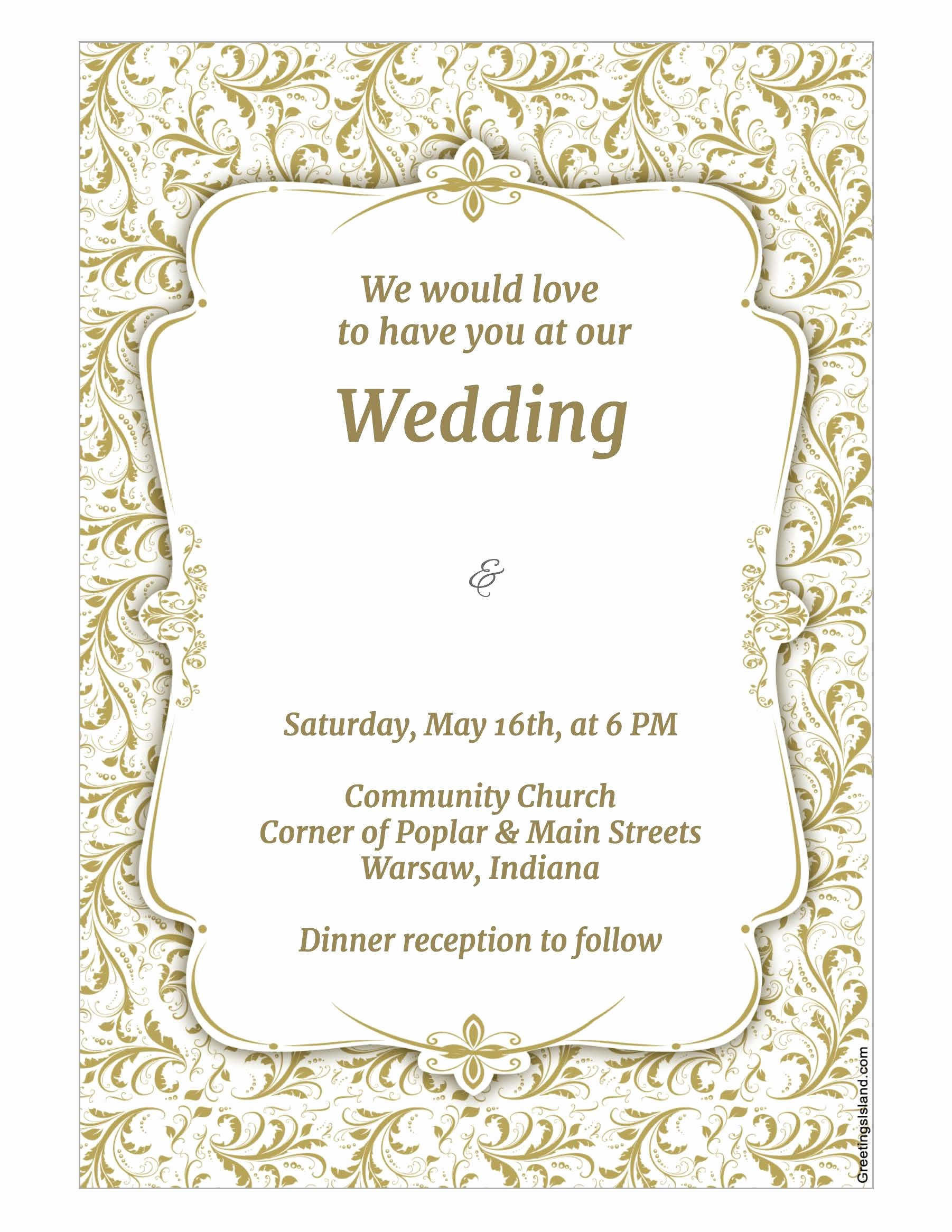 Wedding Invitations List Template Beautiful Download Wedding Invitation Template Wikidownload