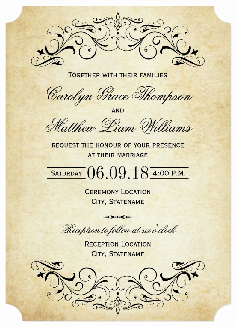 Wedding Invitations List Template Elegant 31 Elegant Wedding Invitation Templates – Free Sample